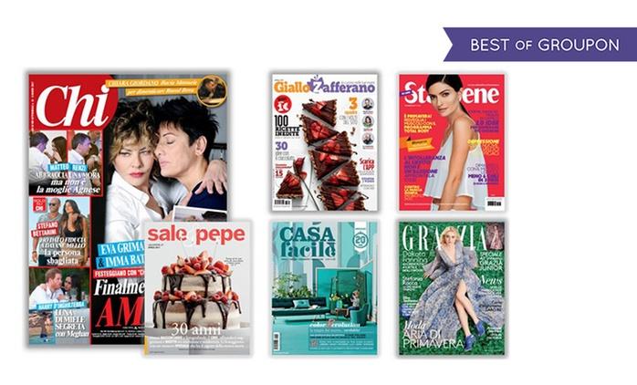 Giallo Zafferano e altre riviste mondadori dedicate alle donne con spedizione gratuita (sconto fino a 70%)