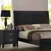 Eaton Rubberwood Queen Bed and Nightstand