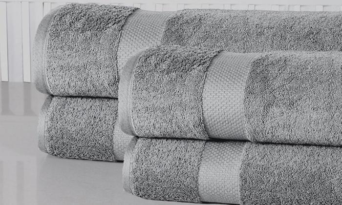 100% Cotton Oversized 35x66 Bath Sheets (4-Pack)
