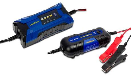 Cargador de batería con tecnología contra sobrecargas Goodyear
