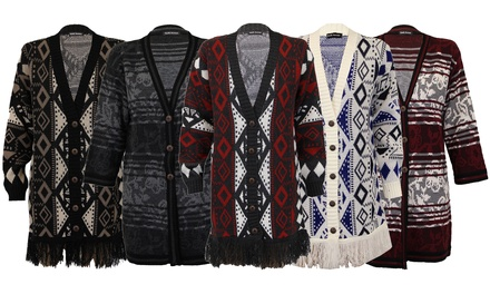 Women's Oversized Patterned Knitted Cardigans for £11.99