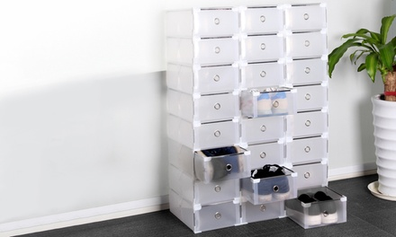 24 organizer box trasparenti