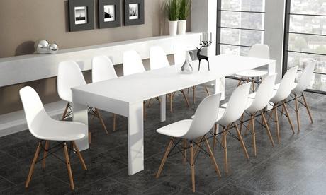 Mesa consola extensible para 6, 10 y 14 personas