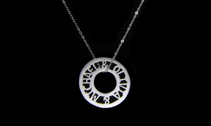 Namejewelryspot.com: $34.99 for a Custom Round Token Necklace from NameJewelrySpot ($139.99 Value)
