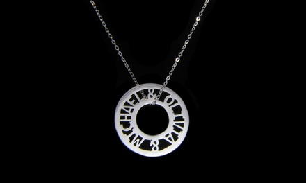 $34.99 for a Custom Round Token Necklace from NameJewelrySpot ($139.99 Value)