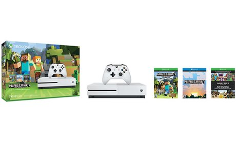 Xbox One S 500GB Console and Minecraft Bundle