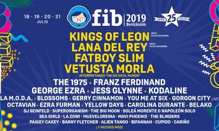 Entradas de Ticketmaster para FIB 2019 del 18 al 21 de julio por 167,40 € - Benicàssim