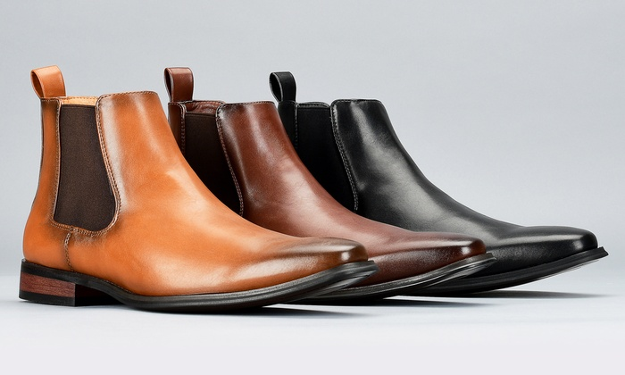 men's pull on dress boots