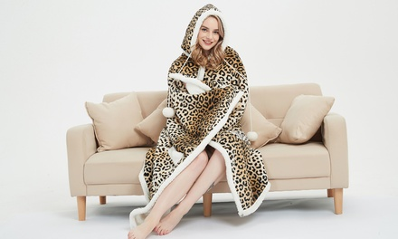 $29 for a Sherpa Hooded Throw Blanket in a Choice of Design Don't Pay $149