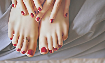 Regular or Shellac Manicure with Regular Pedicure at Forever Beauty Nails Spa and Salon (Up to 50% Off)