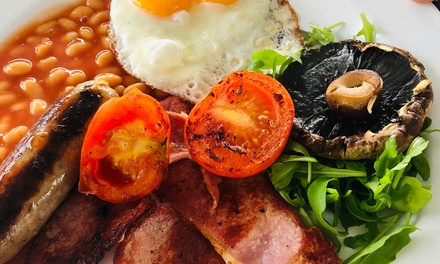 Full English Barbecue Breakfast with Tea or Coffee for Two at Salt Shack Cafe