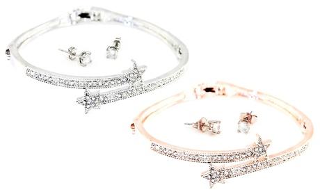 1 o 2 sets de brazalete y pendientes Ofelia decorados con cristales de Swarovski®