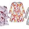 Girls' Printed Holiday Dress
