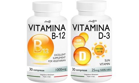 60, 120 o 240 cápsulas de vitaminas B12 y D-3 Lineadiet