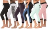 Coco Limon Women's Assorted Capri Joggers (6-Pack): Coco Limon Women's Assorted Capri Joggers (6-Pack)