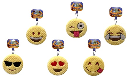 Bow Wow Pet Squeaker Emoji Dog Toys (6-Pack)