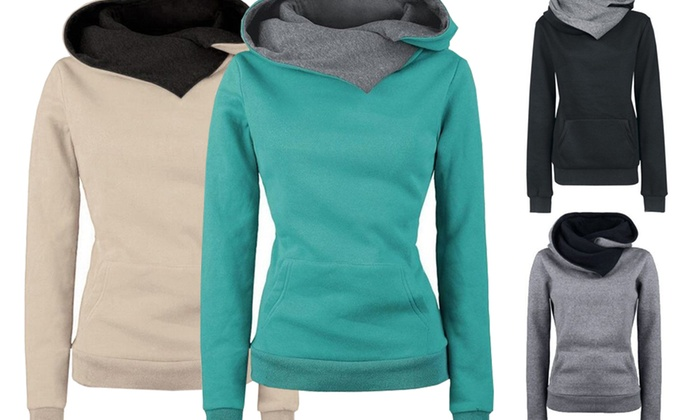 Idc Marketing: Women's Cotton Blend Hooded Sweater: One ($19) or Two ($29)