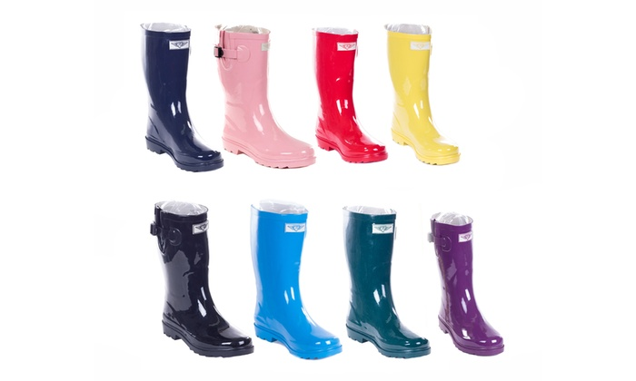 "Women's 11"" Rubber Rain Boots"