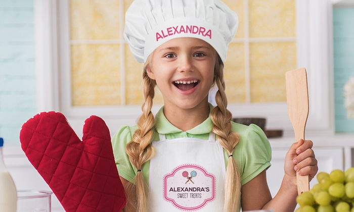 Beautiful Kids' Custom Chef Hats and Apron - Monogram Online | Groupon DO38