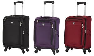 "Travelers Club 18"" Expandable Spinner Carry-On Luggage"