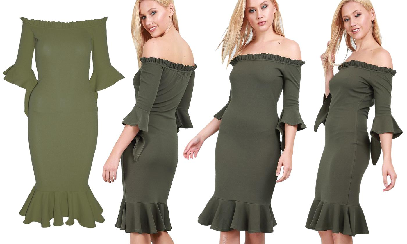 Oops Off-the-Shoulder Bodycon Dress