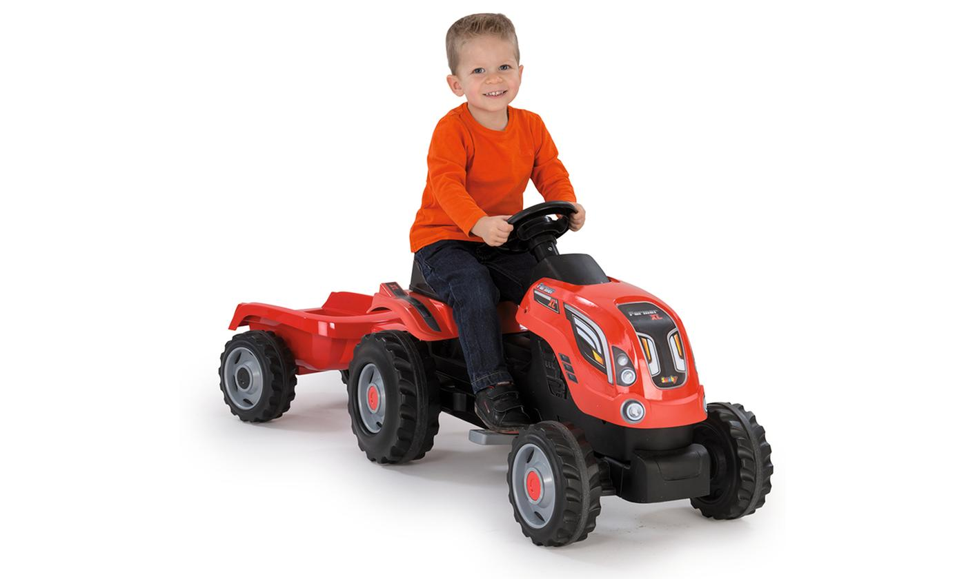 Smoby Ride-On Tractor with Trailer With Free Delivery