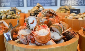 Cafe Palmier at Le Royal Meridien Abu Dhabi: Seafood Buffet with Free-Flowing Drinks for Up to Four at Cafe Palmier at Le Royal Meridien Abu Dhabi (Up to 38% Off)