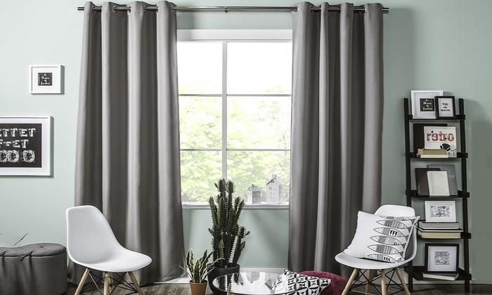 rideau occultant groupon. Black Bedroom Furniture Sets. Home Design Ideas