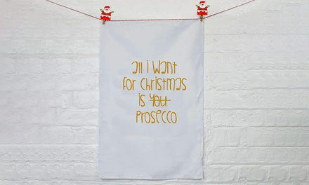 All I Want for Christmas Personalised Tea Towel for £5.99 (70% Off)