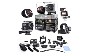 XtremePro 4K WiFi Ultra HD Sport Camera with Remote and Accessories