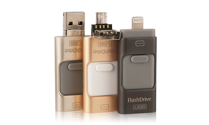 Trendz Ultimate 3-in-1 Flash Drive for iPhone, Android, and More