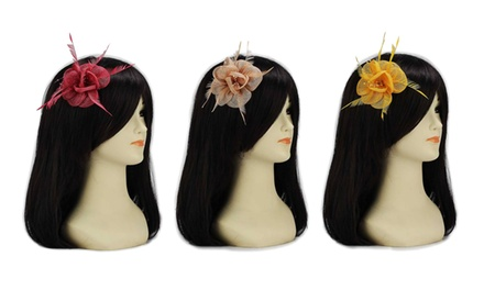 Pearl Fashion Mesh Flower Fascinator for £4.99
