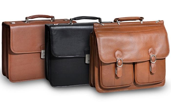 McKlein Premium Leather Flapover Laptop Briefcases