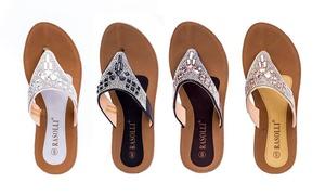 Rasolli Women's Kelly Comfort Low-Wedge Sandals