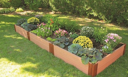 Up to 47 off on composite raised garden kit groupon goods for Gardening 4 less groupon