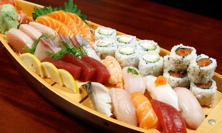 Soup, Salad, Sushi and Sashimi, Entrees, Ice Cream, and Sake for Two or Four at Sagano Japanese(Up to 52% Off)