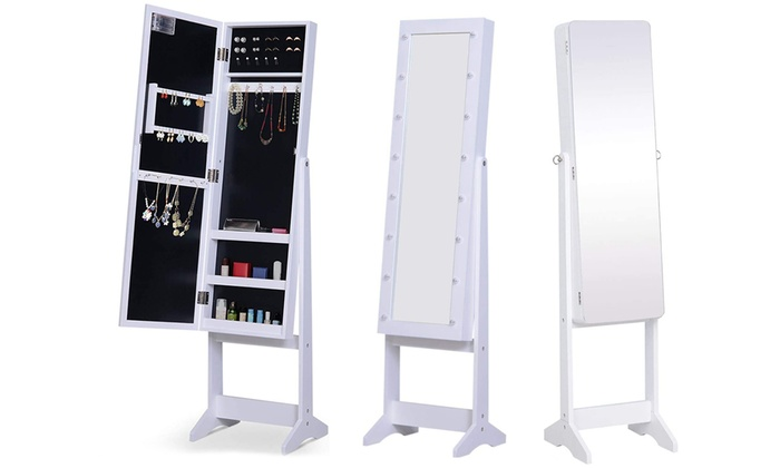 HomCom Floor Standing Mirror Cabinet With Free Delivery