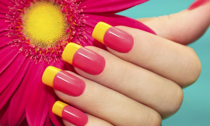 Jv Style Nail & Spa - Mineola: No-Chip Manicure and Pedicure Package from JV STYLE (32% Off)