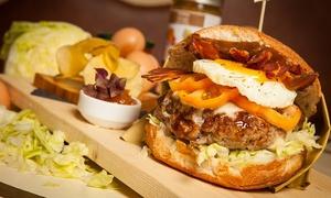 Scarlett Cafè: Menu hamburger biologico di razza chianina e birra per 2 o 4 persone da Scarlett Cafè (sconto fino a 72%)