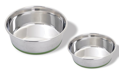 Van Ness Heavyweight Non-Skid Stainless Steel Pet Bowls (2-Pack) 8a11a95c-d2ad-11e6-9783-00259069d7cc