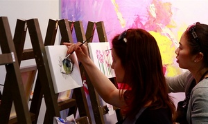 Paintlounge: Social Painting Workshop and Café Drinks for One or Two at Paintlounge (Up to 45% Off)