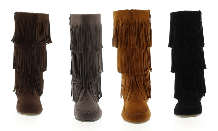 3-Layer Fringe Boots