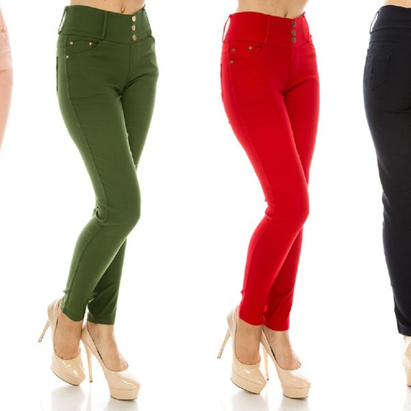 3090c10c633 Women s Stretchy Cotton-Blend Skinny Jeggings with Pockets
