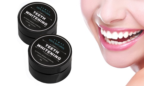 Natural Charcoal Teeth-Whitening Powder (1- or 2-Pack)