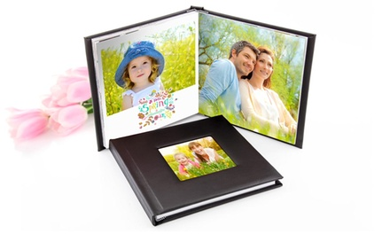 One or Two A4 Personalised Hardback Photobooks with Up to 100 Pages from Printerpix (Up to 77% Off)
