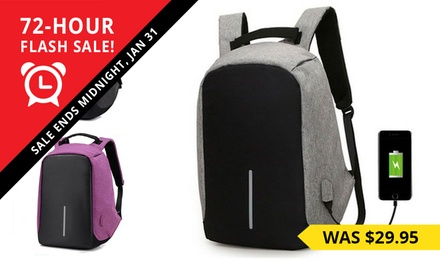 Milano AntiTheft Backpack with USB Charging Port $24.95 with Power Bank $33.95 Don't Pay up to $129.95