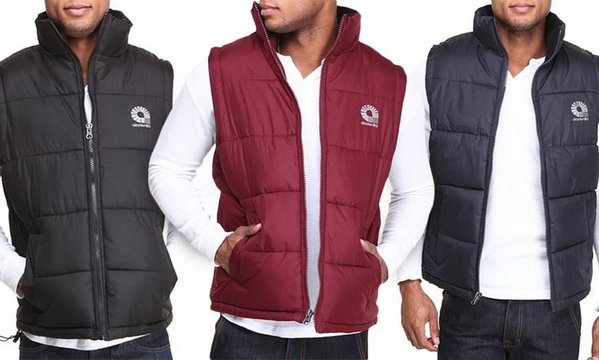 Akademiks Mens Outback Puffer Vest