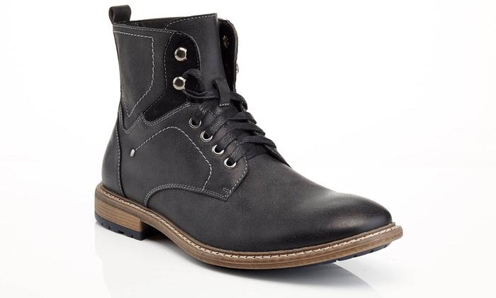 Solo Richard Men's Lace-Up Combat Boots (Size 12) | Groupon