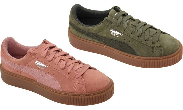best cheap 146bf 932c3 Up To 48% Off Puma Suede Platform Shoes | Groupon