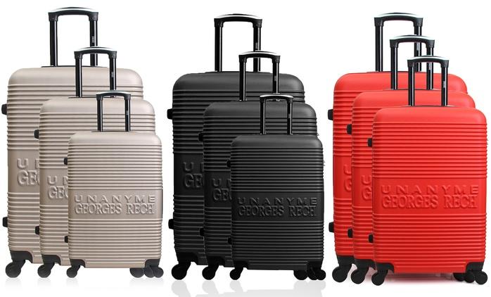 3-teiliges Koffer-Set Georges Rech in der Farbe nach Wahl (82% sparen*)